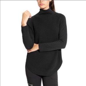 Athleta Ravine black knit wool blend sweater size Small